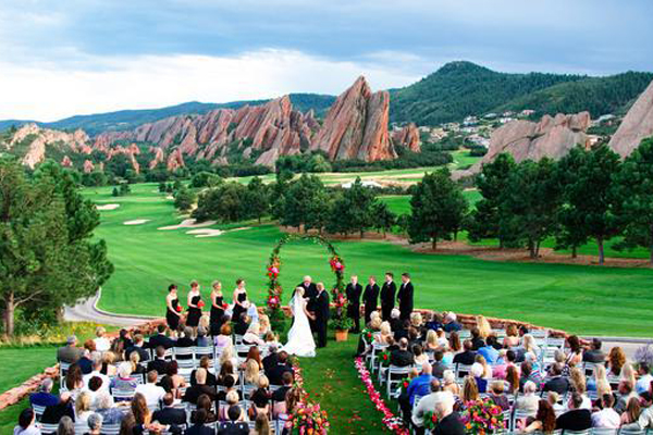 Wedding Ceremony at Arrowhead Golf Club Colorado