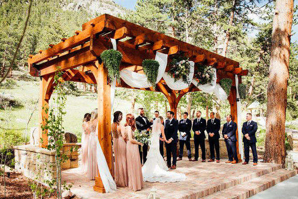 Wedding Ceremony at Della Terra Mountain Chateau in Estes Park Colorado