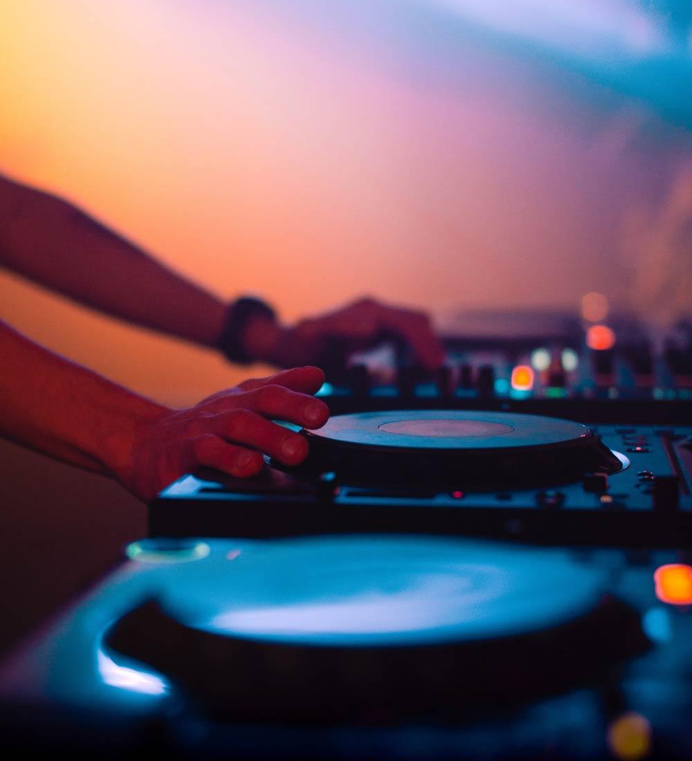DJ working an event