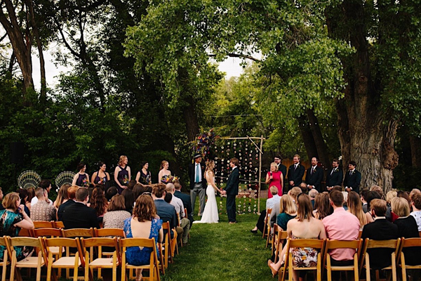 Wedding Ceremony at The Farmette in Lyons Colorado